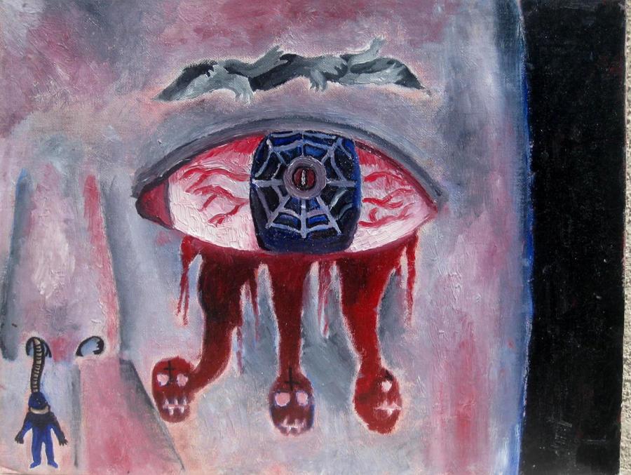 Tears of blood by halloweenkid