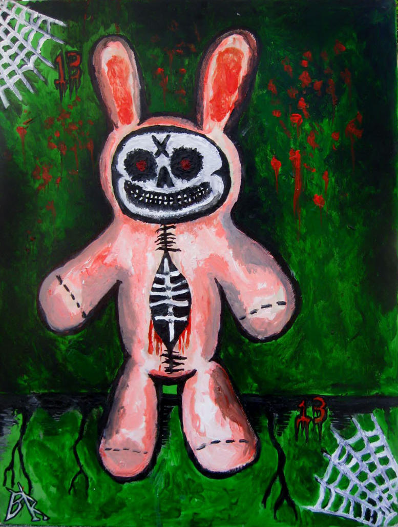 Damien thorn's beloved rabbit by halloweenkid