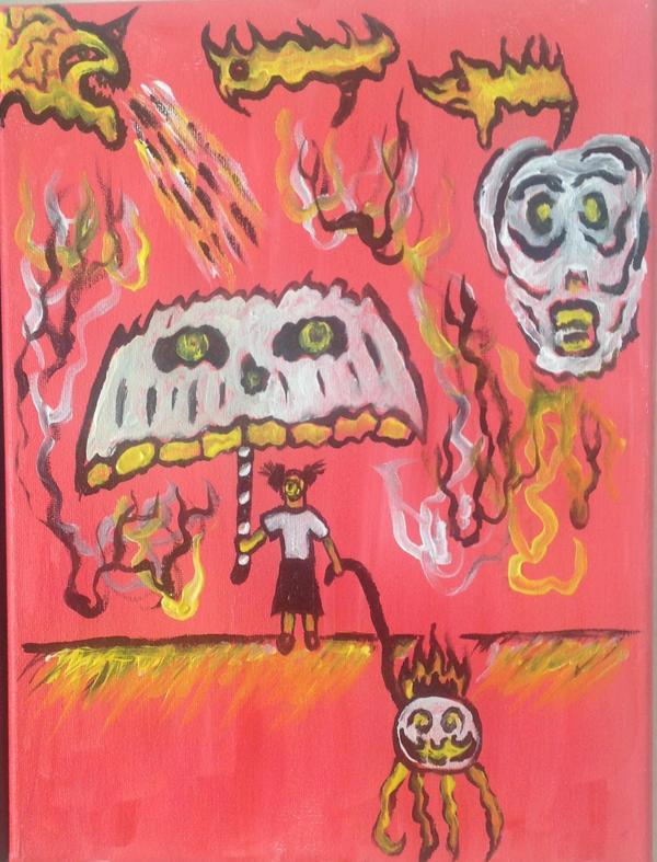 Lucid horrific dream by halloweenkid