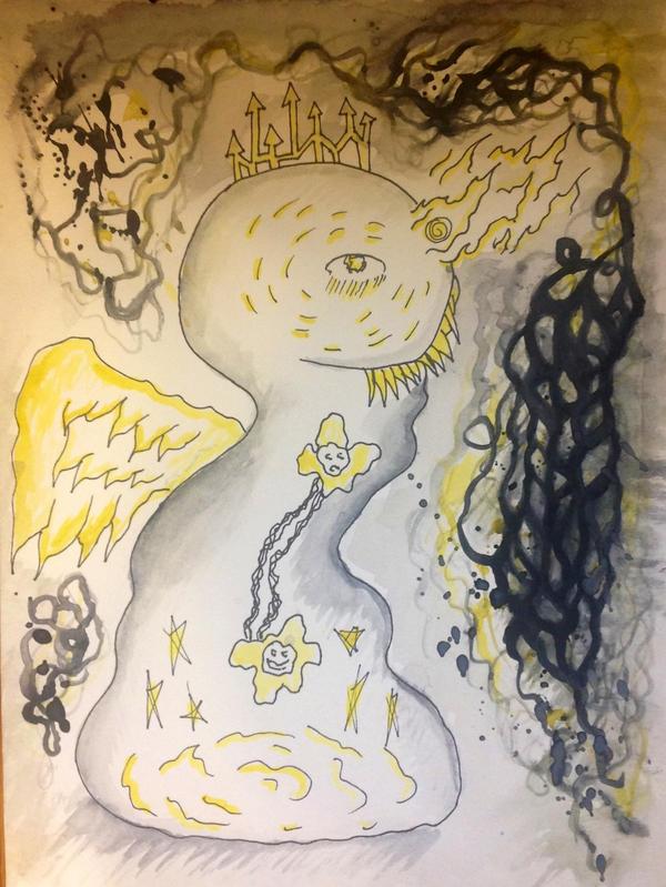 Born a disfigured angel by halloweenkid