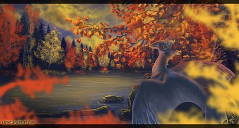 Autumn Lake by Enaxn