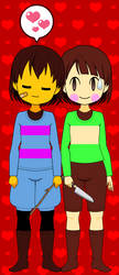 The 'Real' Frisk and Chara (With Codes) by PalomBM