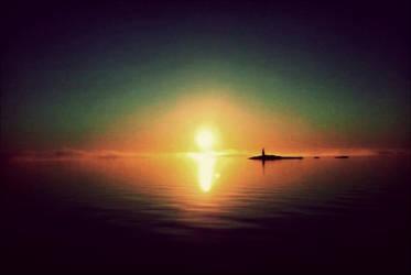Lighthouse At Sunrise On November 3 st by eskile