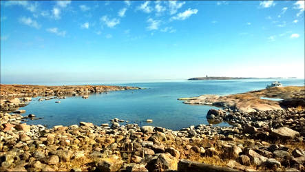 A Rocky Beach In The Archipelago On June 1  by eskile