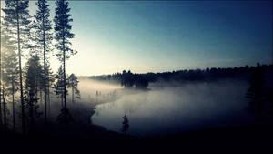 Morning Fog In The Sunrise On October 12