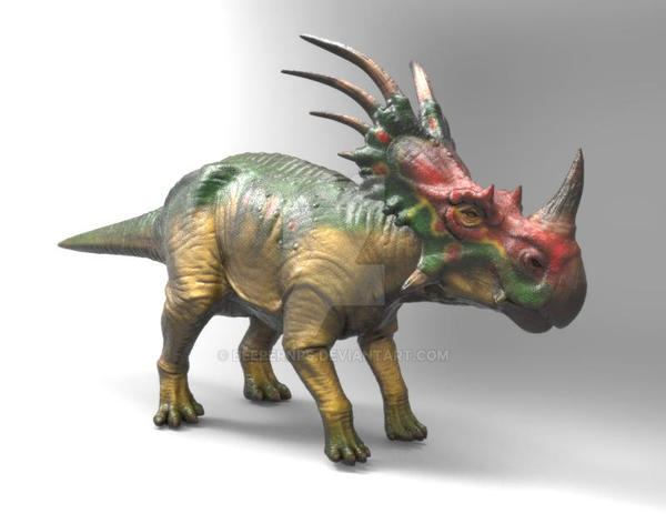 Styracasaurus model rendered in Keyshot by beeperNPS