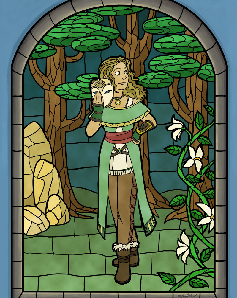 Stainglass Shaman by Allysdelta