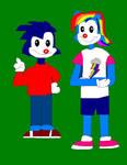 Sonic and Rainbow Dash - Warnerized