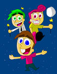 The Fairly OddParents - Timmy, Cosmo and Wanda