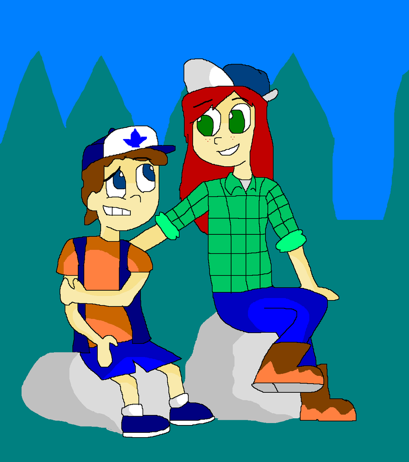 gravity falls dipper and wendy by txtoonguy1037 on