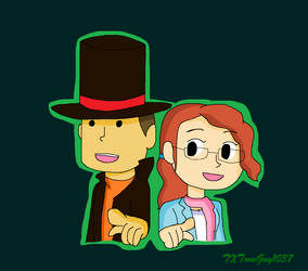 Professor Layton - Hershel and Claire by TXToonGuy1037
