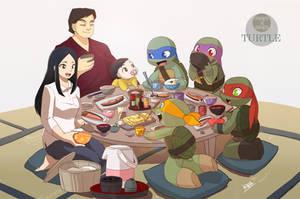 Breakfast of HAMATO family