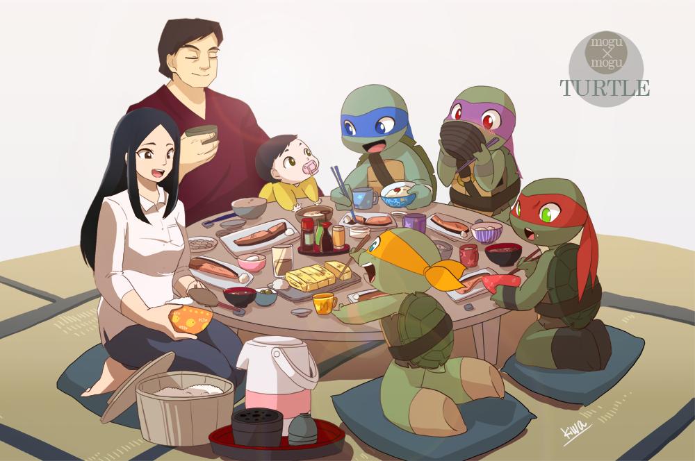 Breakfast of HAMATO family by 07kiwa