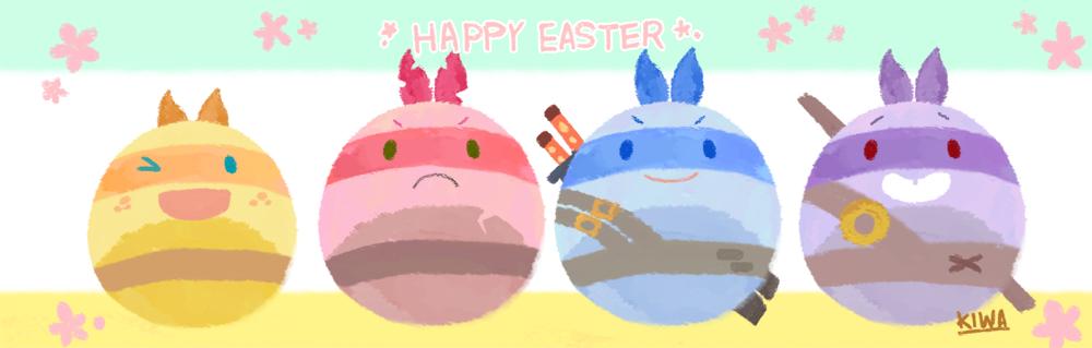 Easter egg Turtles by 07kiwa