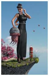 Janet Triplearm and Friend by REK-3D