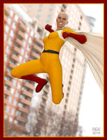 Virtual Cosplay: One Punch... Woman? by REK-3D