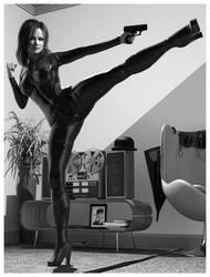 Virtual Cosplay: Emma Peel by REK-3D