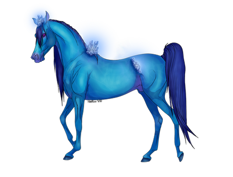 Sapphire Crystal Horse Adopt [closed]
