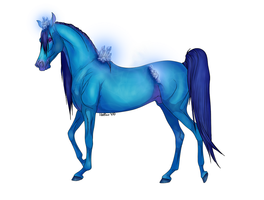 Sapphire Crystal Horse Adopt [open] by RestlessInferno