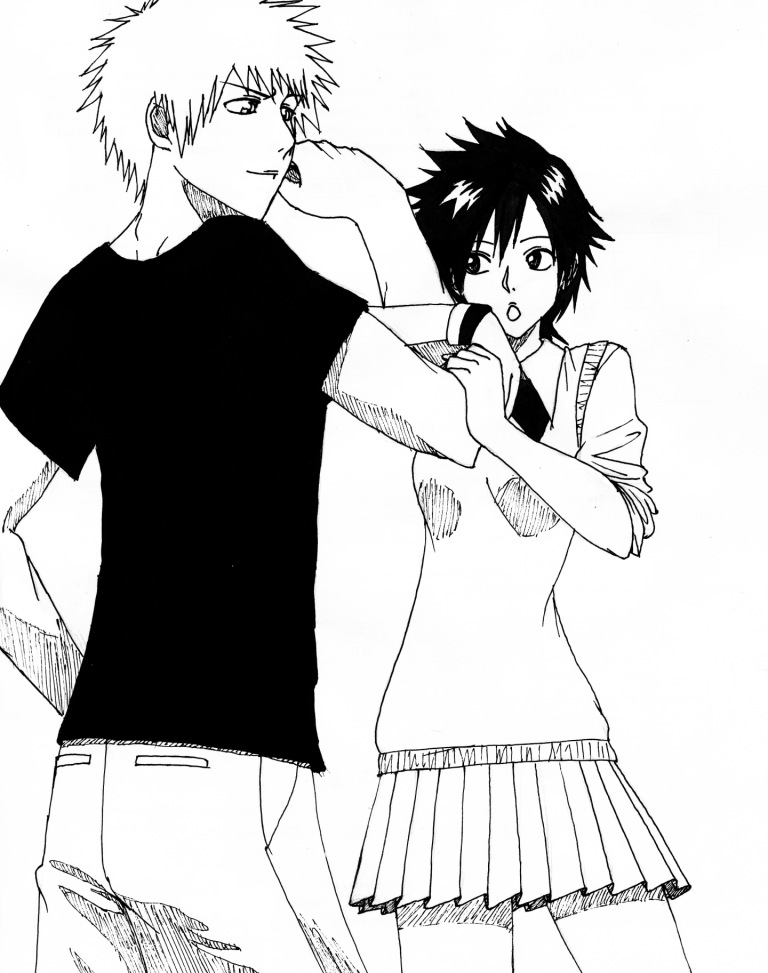 Bleach: Ichigo and Tatsuki by BloodLilium