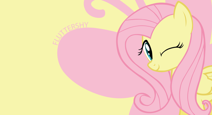 fluttershy wallpaper by goldfisk