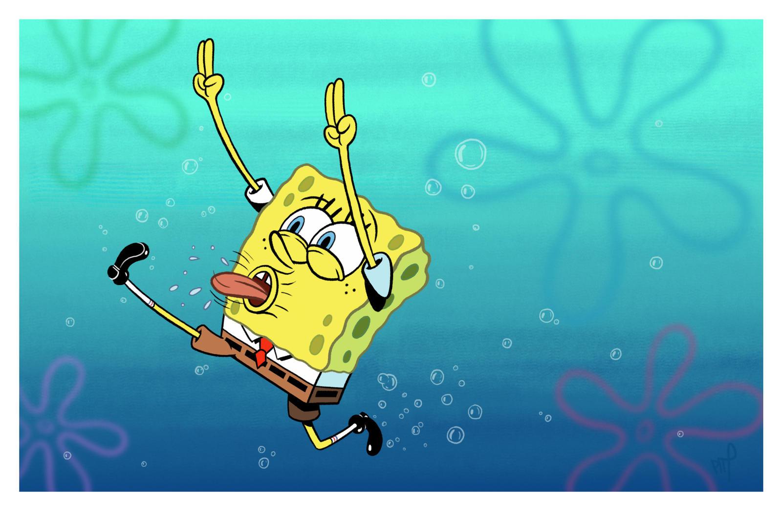 SpongeBob color by brianpitt  Y U No Spongebob