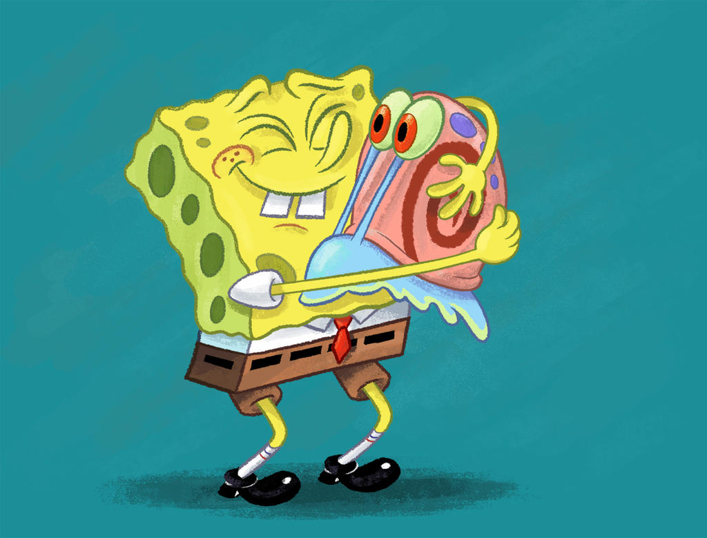 Spongebob Sitting Alone SpongeBob And Gary Color by
