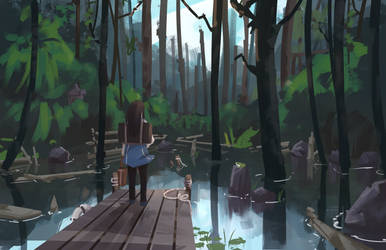 Secret Pond by FranLoL