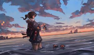 Ship over horizon