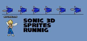 Sonic 3d running sprites