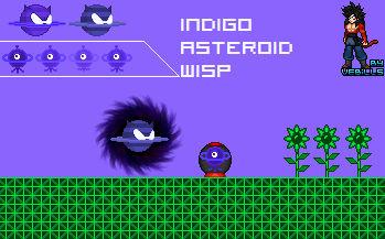 Indigo Asteroid Wisp Sprites