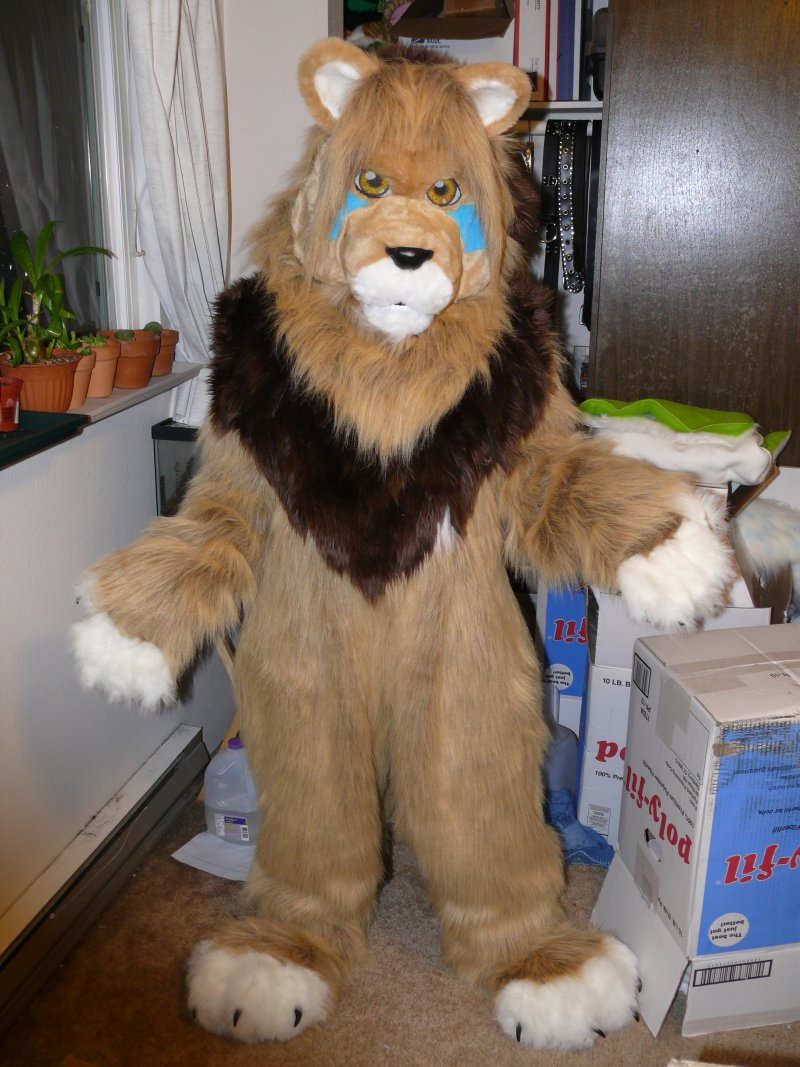 Lion fursuit by Bladespark
