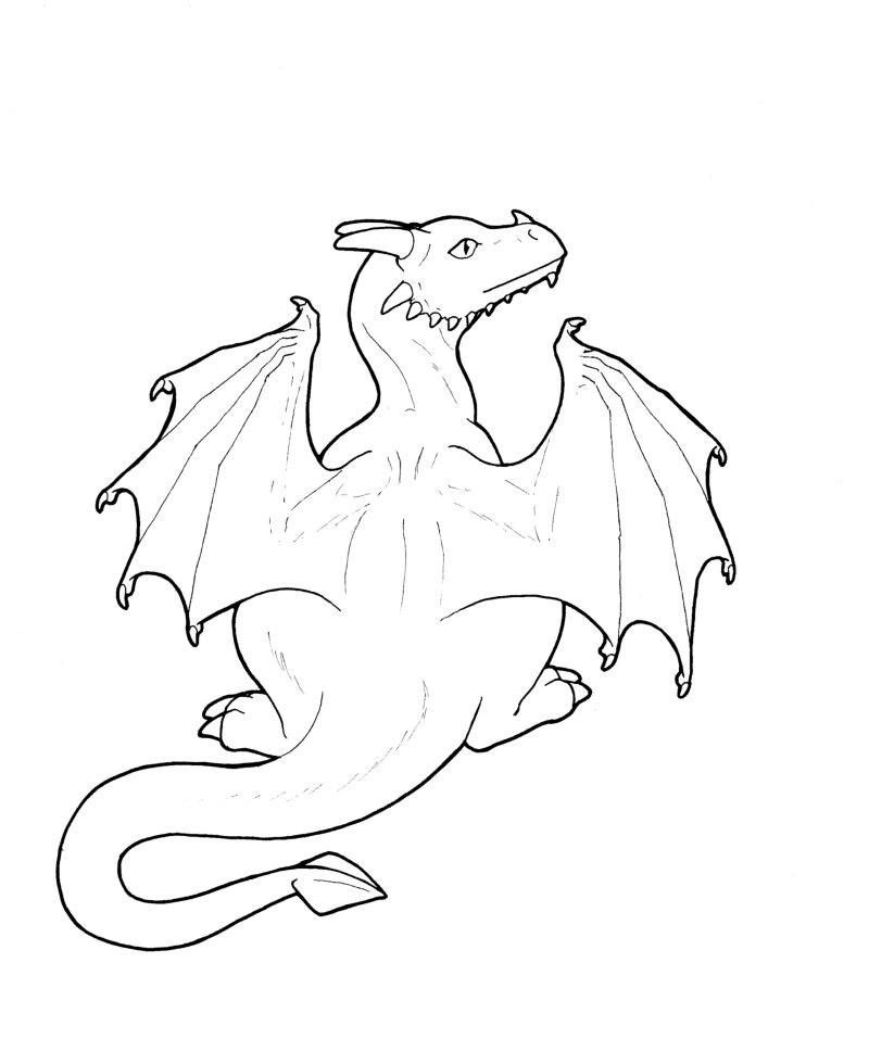 how to draw a cute baby dragon step by step