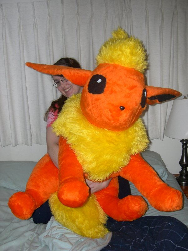 Life size Flareon  plush by Bladespark