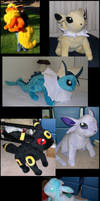 All the Eevee evolutions by Bladespark