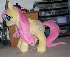 Large Fluttershy plush by Bladespark