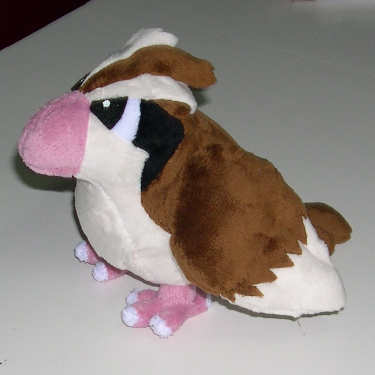 Pidgey plush commission by Bladespark