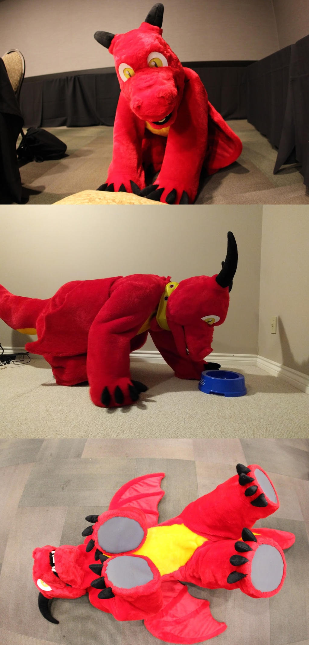 Red dragon quad suit by Bladespark