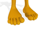Miles Tails Prower Feet Close Up 3D 2