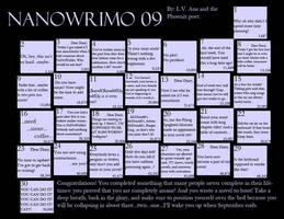 NaNoWriMo Calendar 2009 by Rayviathae