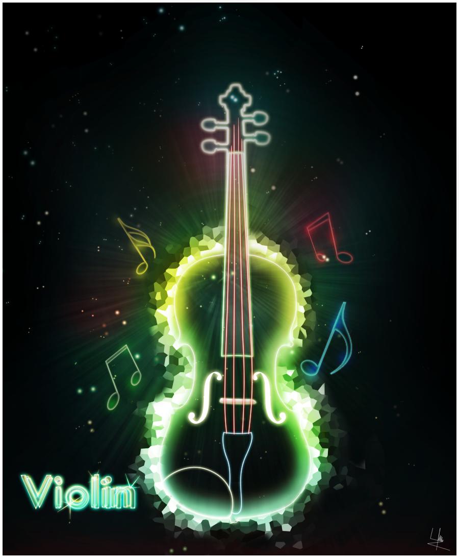 neon violin wallpaper - photo #21
