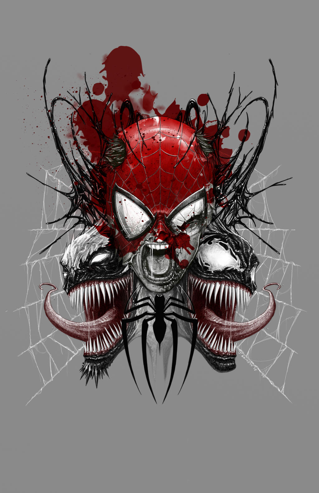 Spidermanvenomantivenom by aburtov