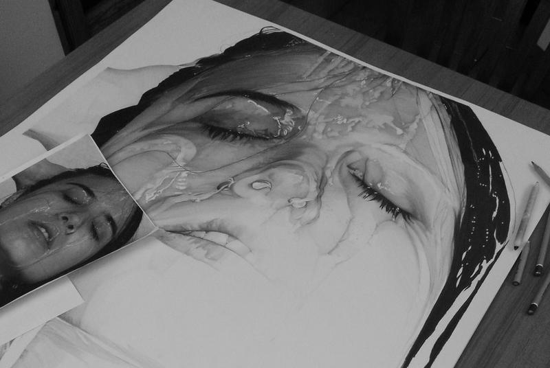 Pencil on paper - Work in progress by Camparbio