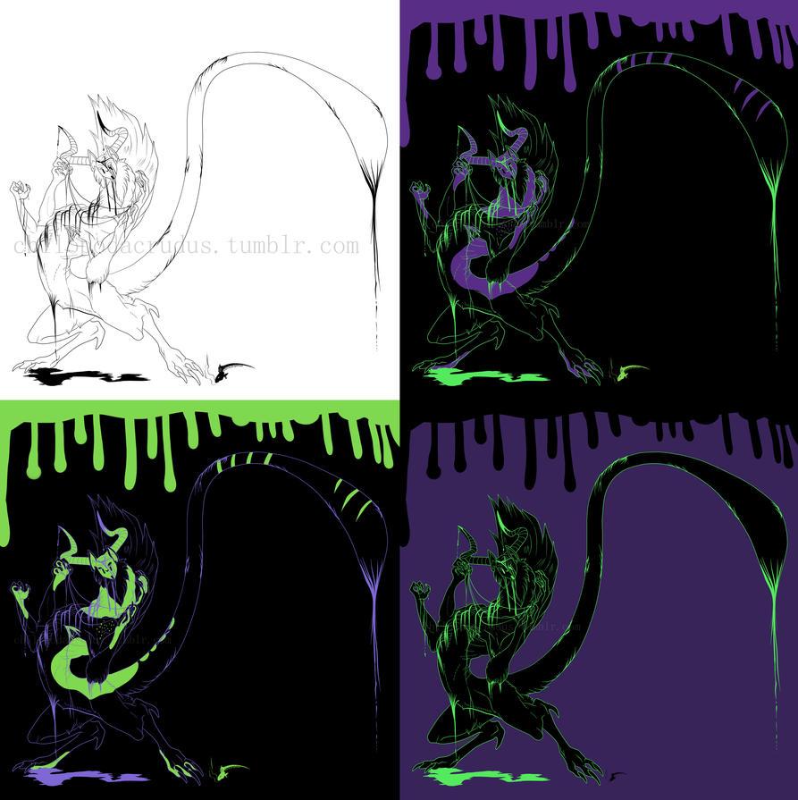 Halloween Commision Bluejay-Cat by spiralofvertigo