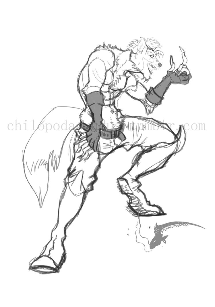 Wolf O Donnel sketch by spiralofvertigo
