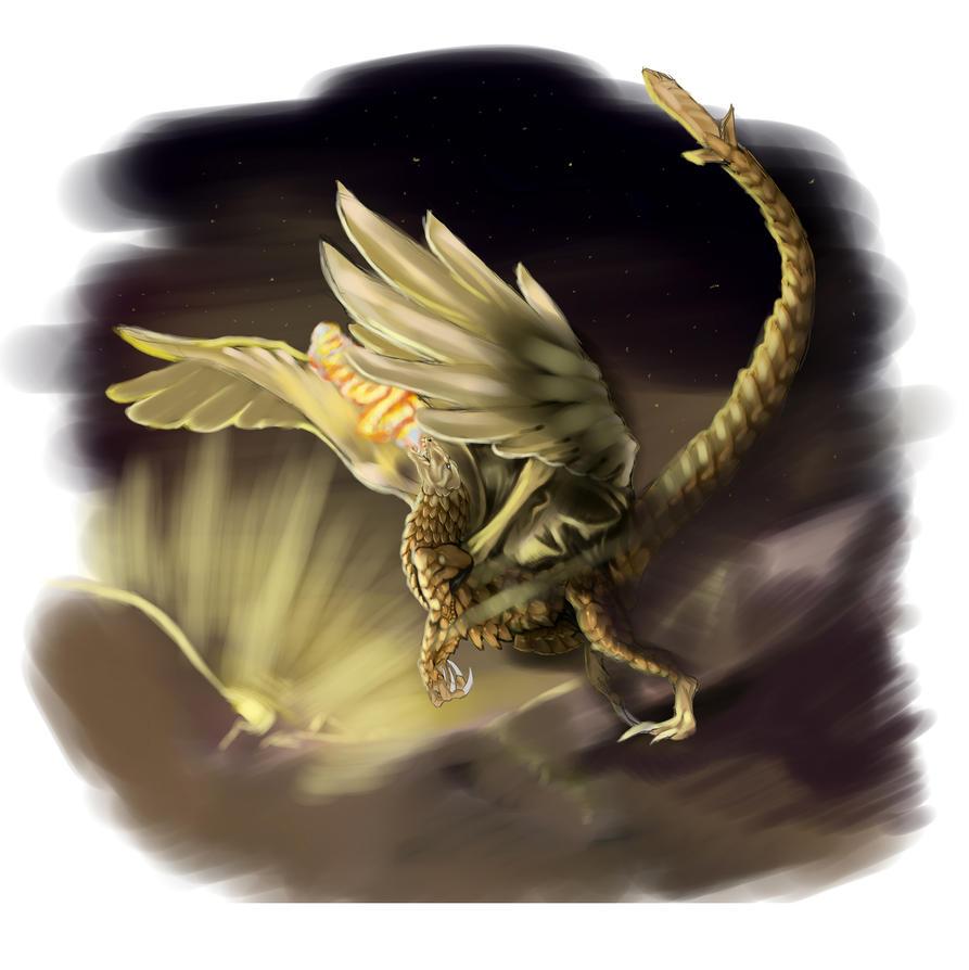 Pangolin Dragon by spiralofvertigo