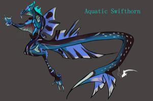 Aquatic Swifthorn by spiralofvertigo