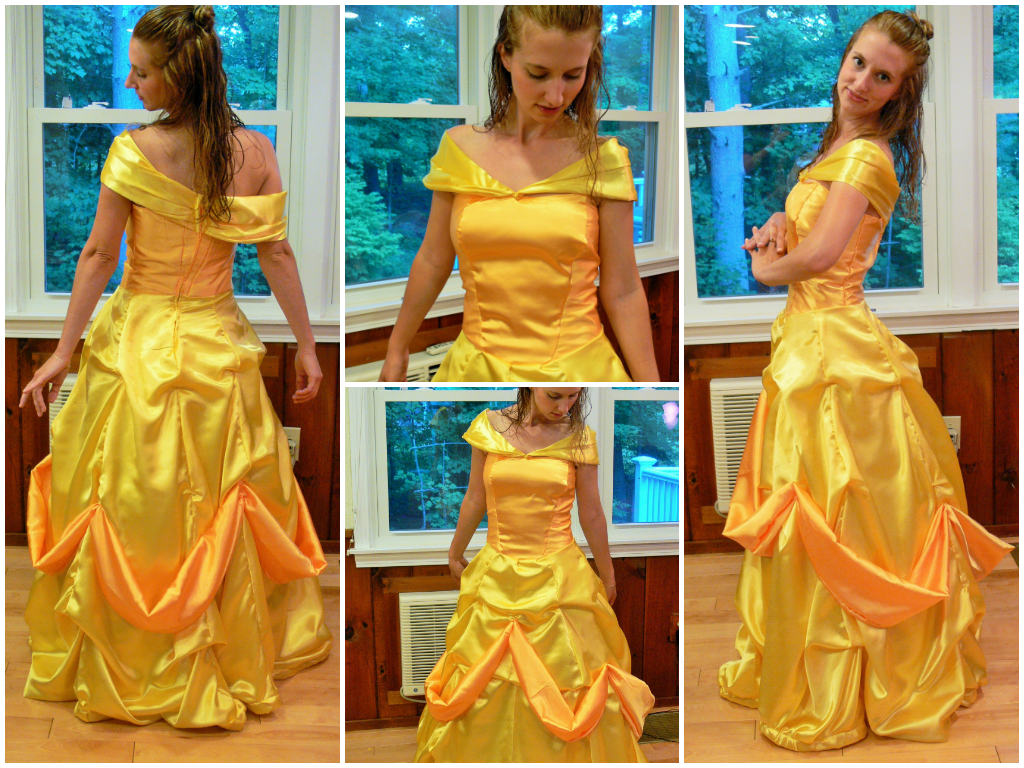 Beauty and the beast belle gown commission by for Wedding dress like belle from beauty and the beast