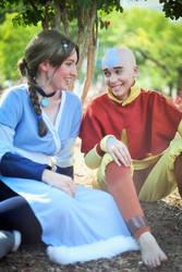 ATLA: Aang and Katara by ElliotCosplay