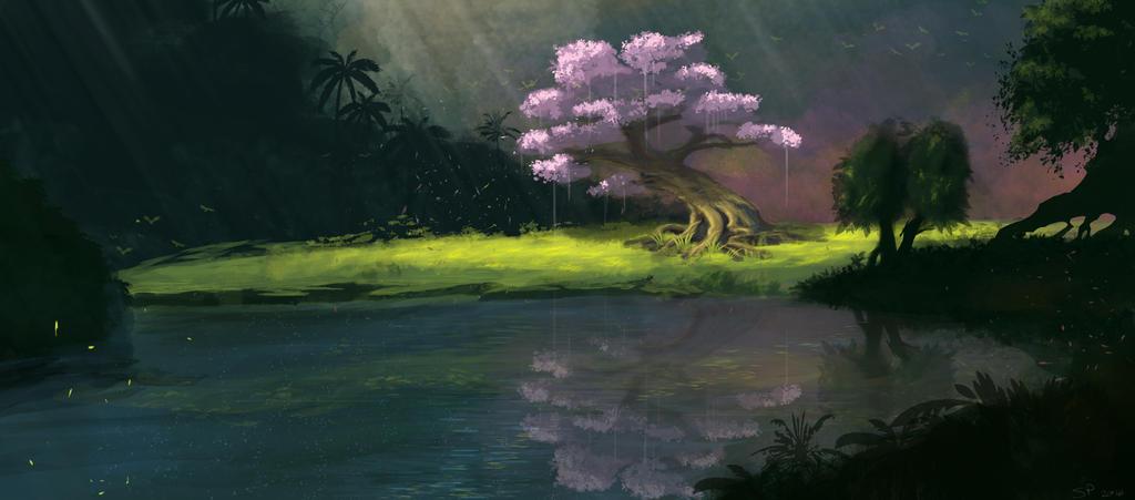Cerisier au fond des bois by Gruntter